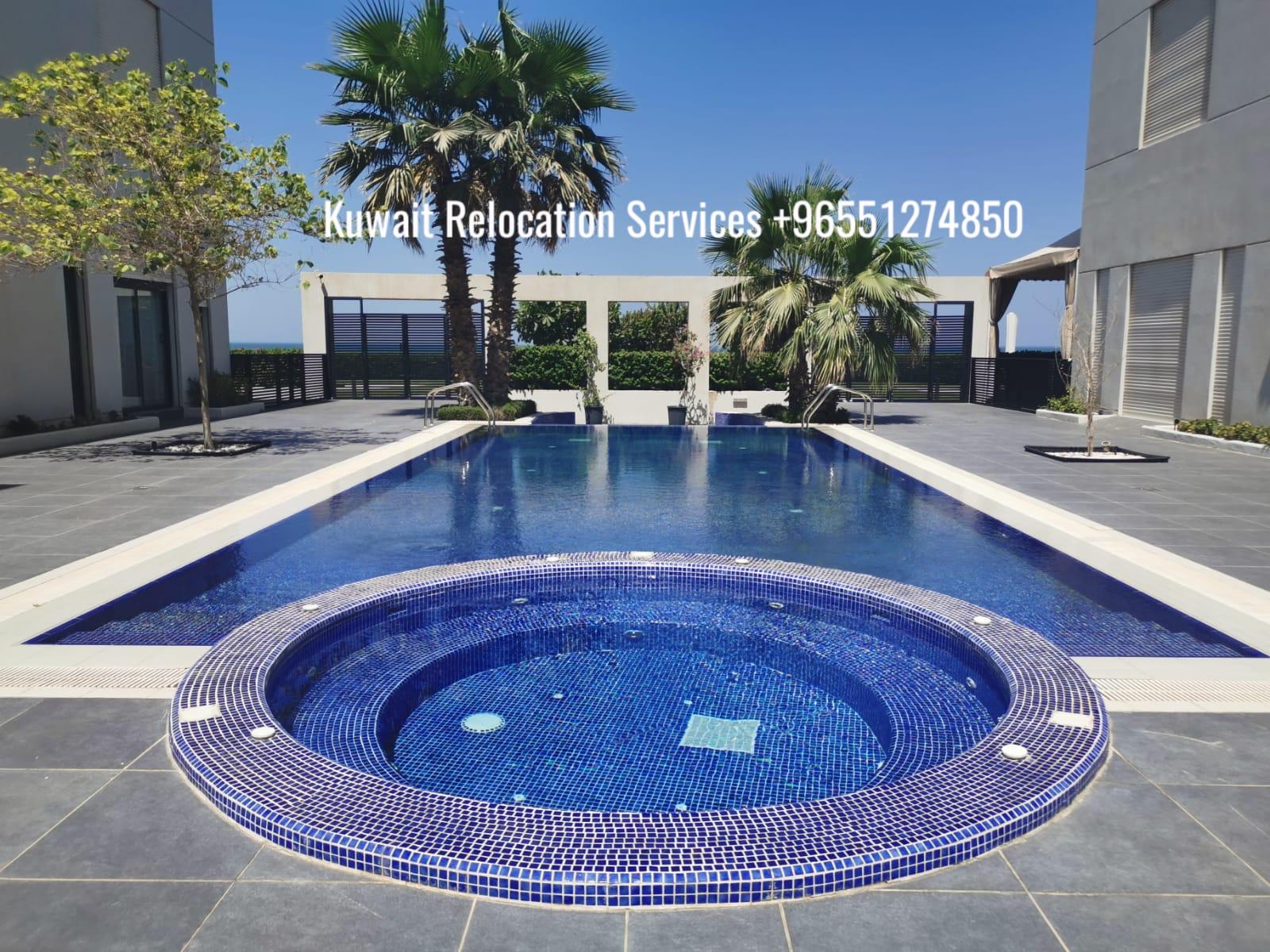 Semi furnished beach villa in a compound.
