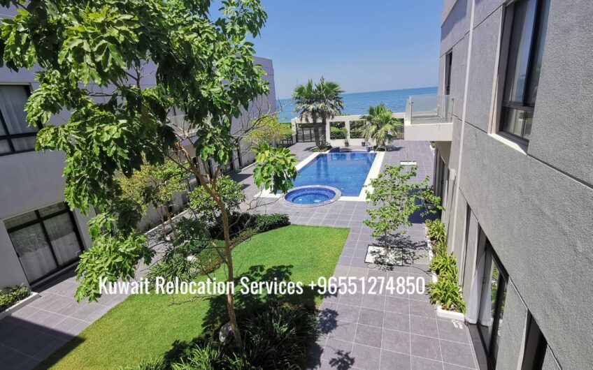 Semi furnished beach villa in a compound.