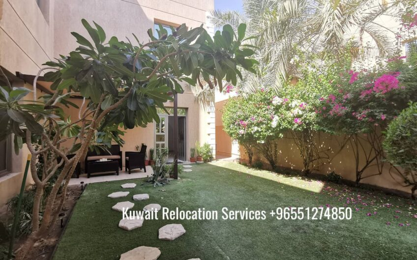 Cosy 4bedroom villa in a green location near the beach in Abuhassania, Kuwait.